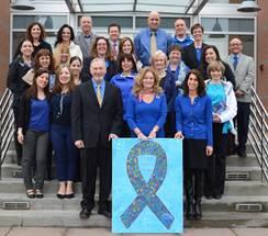Putnam Goes Blue for Child Abuse Awareness