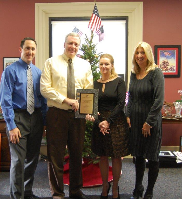 County Finance Dept. Receives Highest Award for Accounting, Reporting