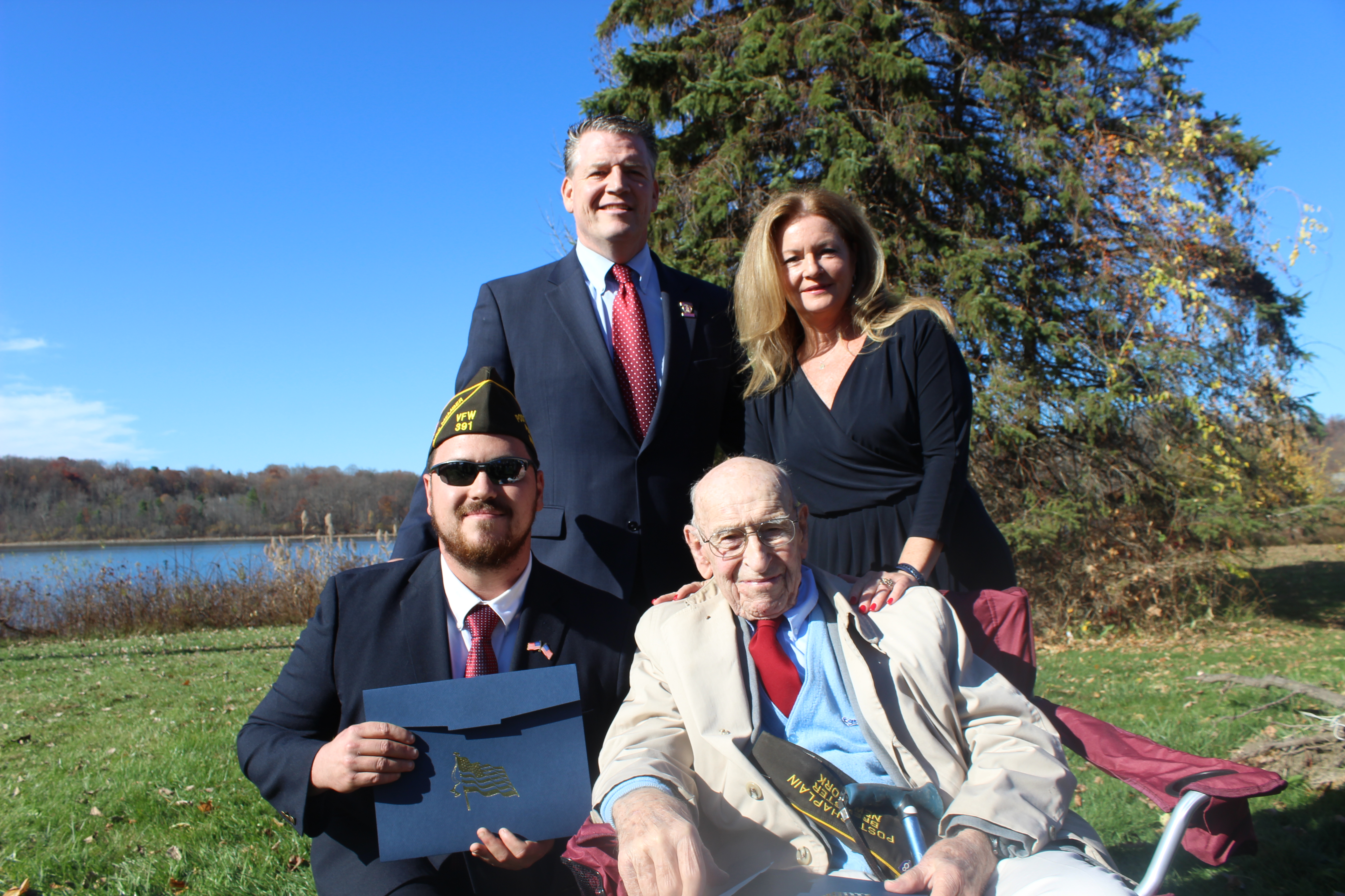 Odell Recognizes WWII Veteran and Iraq Veteran during Putnam's Row of Honor Opening Ceremony