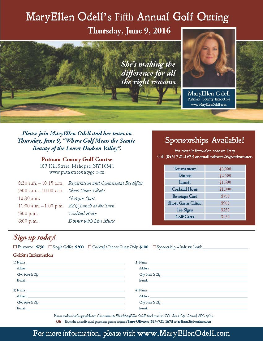 MaryEllen Odell's Fifth Annual Golf Outing
