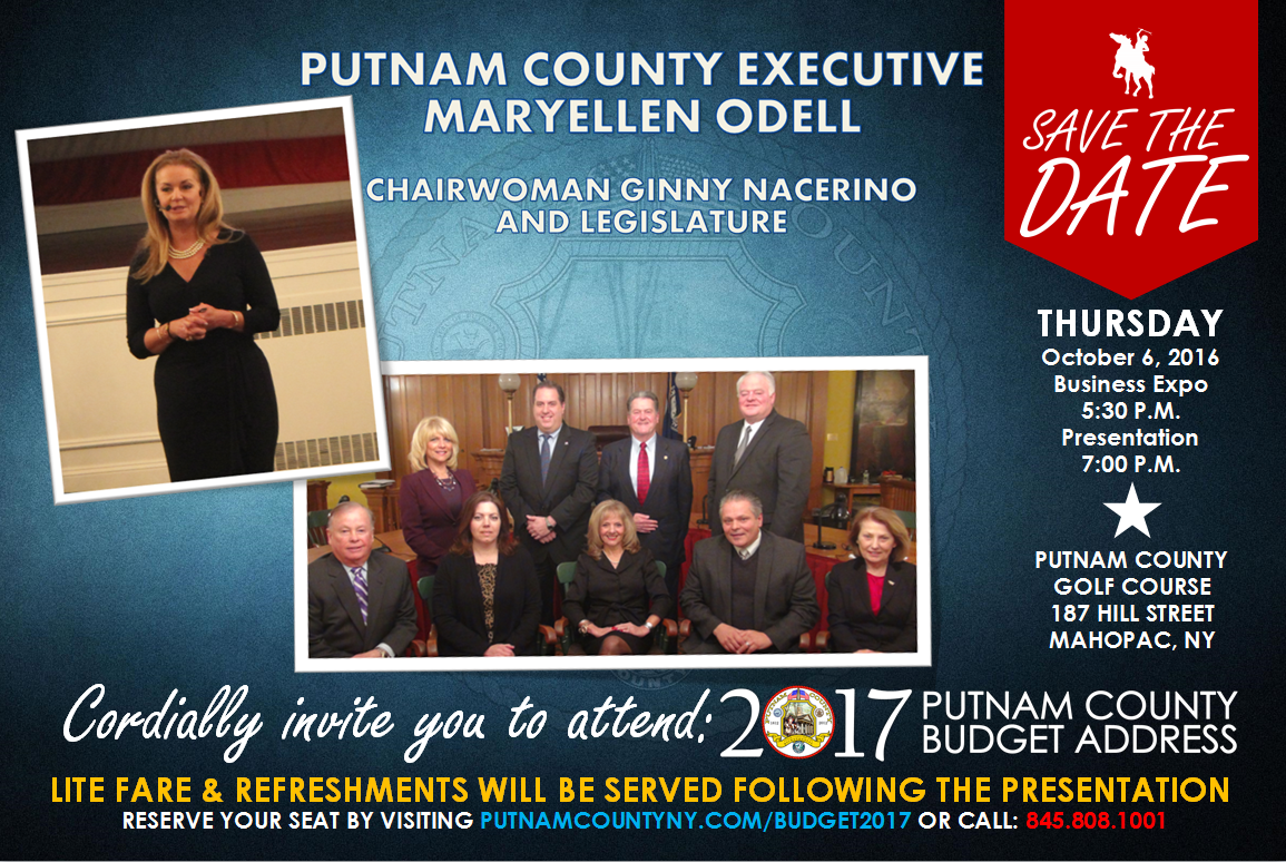 Save the Date: Putnam County 2017 Budget Address, Thursday, October 6
