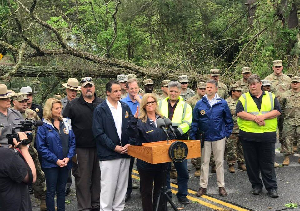 Governor Cuomo and County Executive Odell Survey Storm Damage in Putnam County